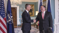 Meetings of the Ministers of Foreign Affairs in Washington - NATO Secretary General meets with the US Secretary of State, Mike Pompeo