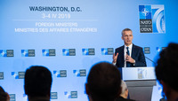 Meetings of the Ministers of Foreign Affairs in Washington - Press conference by the NATO Secretary General