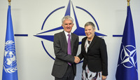 UN Under-Secretary-General for Humanitarian Affairs visits NATO