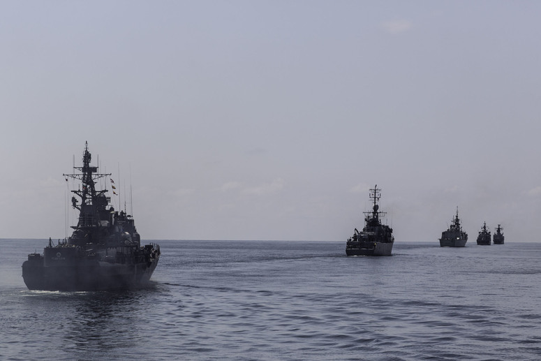 Participating ships in formation during exercise Breeze 19. The Bulgarian-led maritime exercise involving 12 NATO Allies and 27 ships, strengthened NATO's readiness in the Black Sea region.
