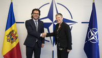 Minister of Foreign Affairs and European Integration of the Republic of Moldova visits NATO