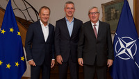 NATO Secretary General meets Presidents of European Council and of European Commission