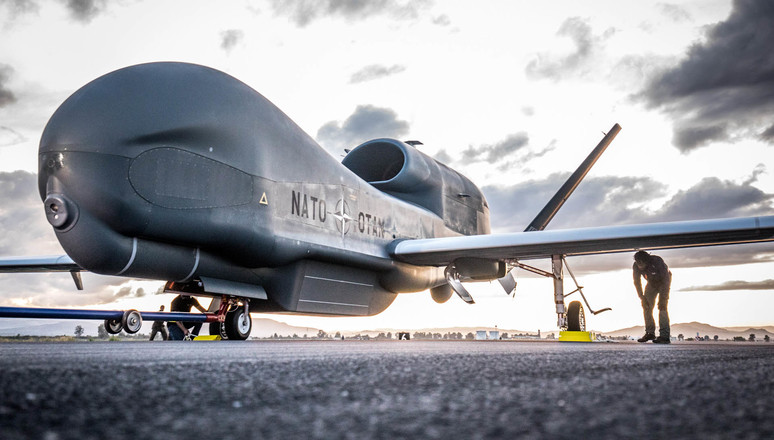 Naval Air Station Sigonella, Italy - NATO'€™s first RQ-4D has arrived in Europe.