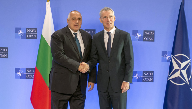 NATO Secretary General Jens Stoltenberg with the Prime Minister of Bulgaria, Boyko Borissov