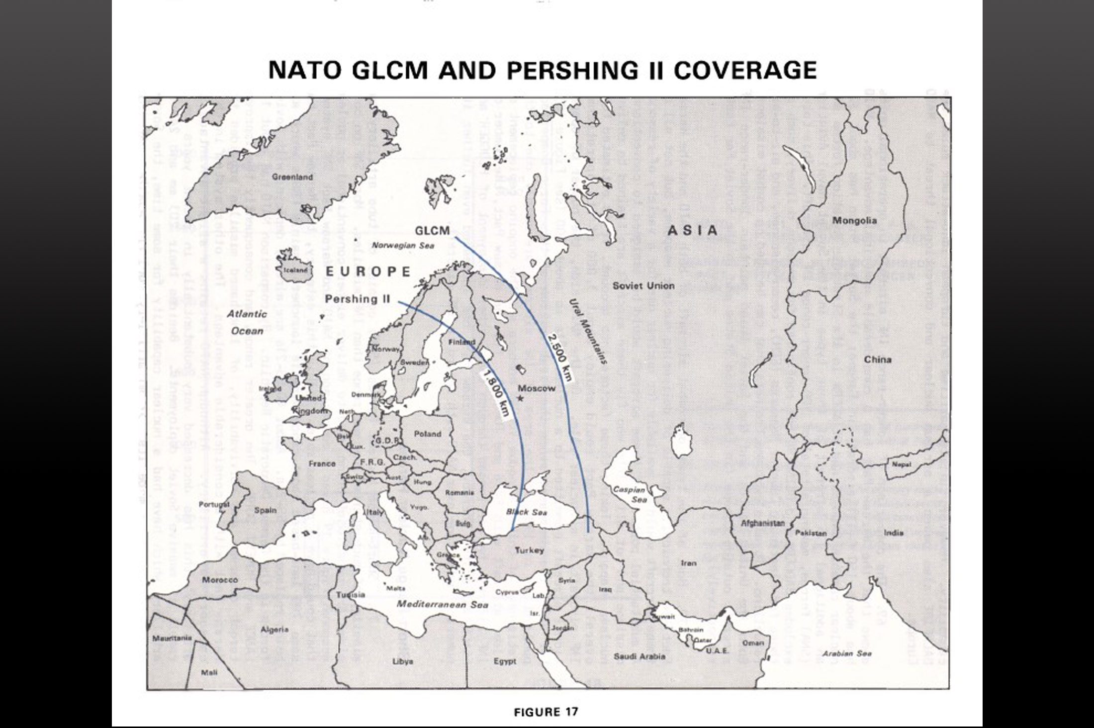 NATO GLCM and Pershing II coverage