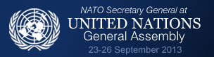 NATO Secretary General at UN General Assembly
