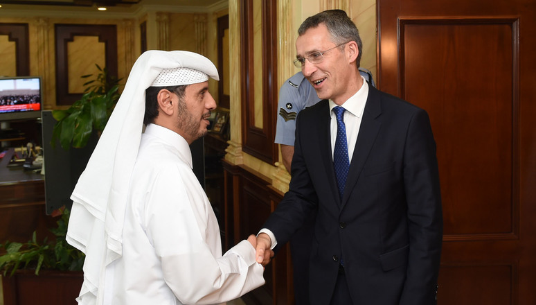 North Atlantic Council marks 10th Anniversary of the Istanbul Cooperation Initiative. Bilateral meeting between NATO Secretary General Jens Stoltenberg and the Prime Minister of the State of Qatar, Sheikh Abdullah Bin Naser Bin Khalifa Al-Thani