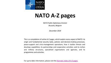 NATO A-Z pages (Archived 2014)