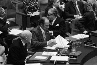 Trudeau at the North Atlantic Council, 1974