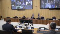 Meeting of the North Atlantic Council (NAC) in Foreign Ministers' session via tele-conference, with participation of Ukraine and Georgia
