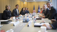 Meetings of the NATO Defence Minister at NATO Headquarters in Brussels - Bilateral Meeting between NATO Secretary General and the US Secretary of Defense