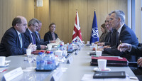 Meetings of the NATO Defence Minister at NATO Headquarters in Brussels - Bilateral Meeting between NATO Secretary General and the UK Secretary of State for Defence