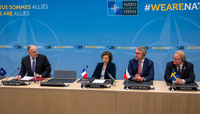 Meetings of the NATO Defence Ministers at NATO Headquarters in Brussels - Signature Ceremony for the Memorandum of Understanding on Land Battle Decisive Munitions