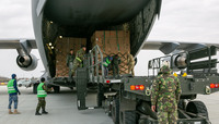 Coronavirus response: Allied plane brings 45 tons of supplies to Bucharest