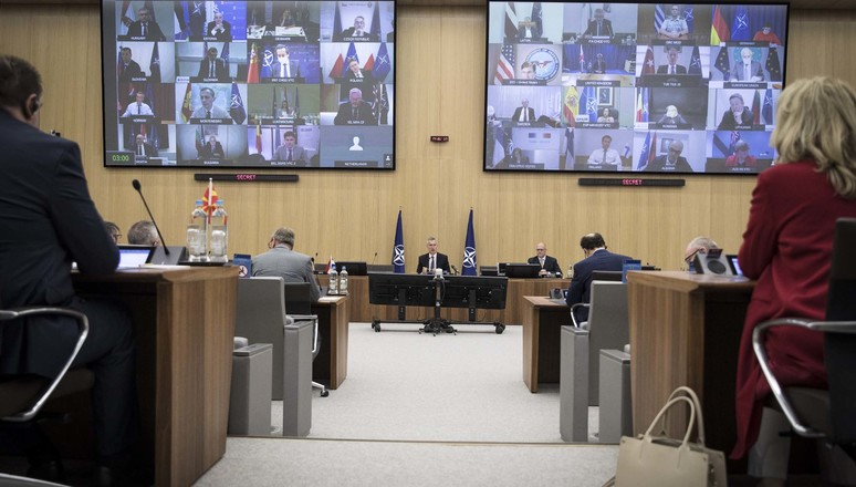 Meeting of the North Atlantic Council in Defence Ministers' session via tele-conference with opening remarks by NATO Secretary General Jens Stoltenberg