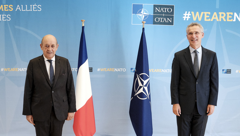 The Minister of Europe and Foreign Affairs of the French Republic, Jean-Yves Le Drian visits NATO and meets with NATO Secretary General Jens Stoltenberg