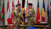 Change of command ceremony at NATO Mission Iraq
