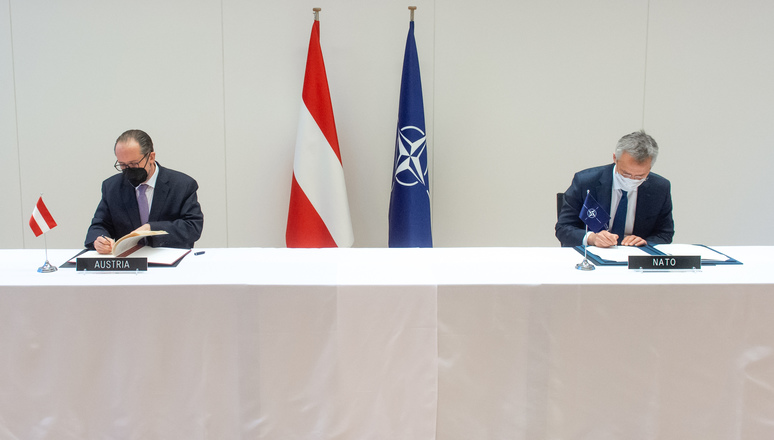 NATO and Austria sign agreement on liaison office in Vienna - NATO HQ