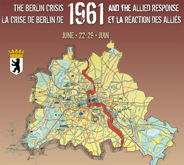 NATO The Berlin Crisis And The Allied Response - Berlin wall 1961 map