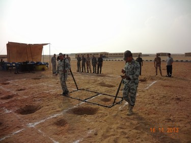 Egyptian desert: new technologies for landmine detection