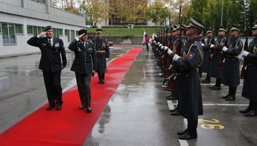 The Chairman of the NATO Military Committee visits Slovenia
