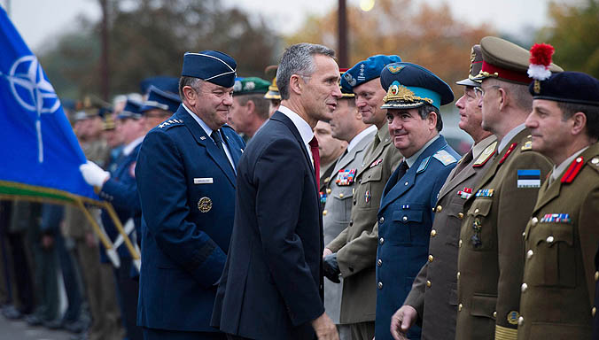 NATO Secretary General briefed on operations in first visit to top Allied military command