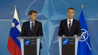 Joint press point with NATO Secretary General Jens Stoltenberg and Prime Minister of Slovenia Miro Cerar