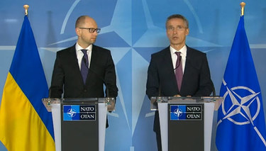 Secretary General tells Ukrainian Prime Minister ''NATO stands with you''