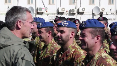 NATO Secretary General sends season's greetings to Allied troops