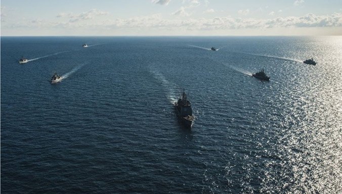 NATO ships deploy to Black Sea for training
