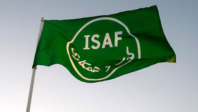Nato News Isaf Flag Returns To Nato Headquarters From