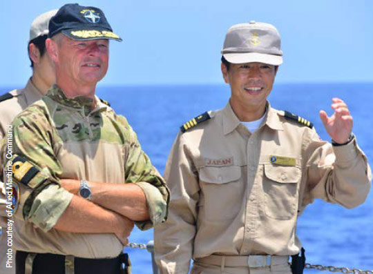 Closer cooperation: counter-piracy is one area         where NATO works with partners.