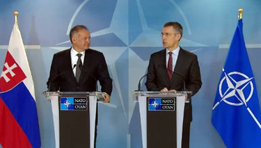 Joint press point  by NATO Secretary General Jens Stoltenberg and the President of Slovak Republic, Andrej Kiska