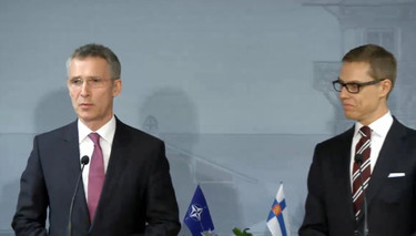 Opening remarks by NATO Secretary General Jens Stoltenberg at the joint press point with the Prime Minister of Finland, Alexander Stubb