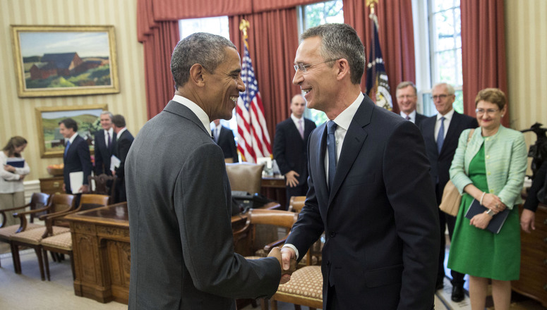 NATO Secretary General thanks President Obama for strong US leadership