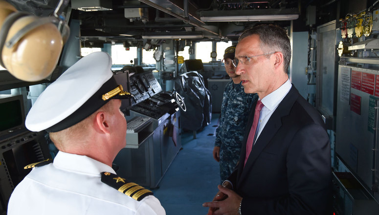 NATO Secretary General describes missile defence as transatlantic teamwork on visit to the USS Carney