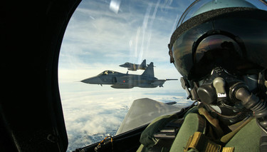 Czech Air Force Gripens conduct NATO air surveillance mission over Iceland