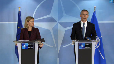 NATO Foreign Ministers discuss cooperation on hybrid warfare, challenges to the south with the EU High Representative Mogherini