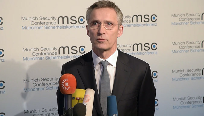NATO  Secretary General arrives in Munich