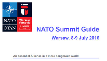 NATO Summit Guide - Warsaw 2016