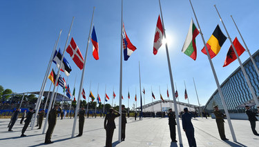 NATO leaders welcome a new home for the Alliance