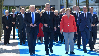NATO leaders agree to do more to fight terrorism and ensure fairer burden sharing