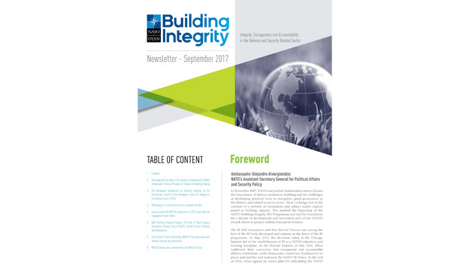 nato building integrity newsletter