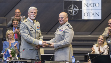 Air Chief Marshal Sir Stuart Peach assumes his position as Chairman of the NATO Military Committee