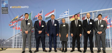 Young Kuwaiti Diplomats share views with NATO officials during a recent visit at NATO Headquarters
