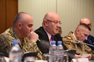 Georgian defence minister attends multinational workshop on Non-Commissioned Officers