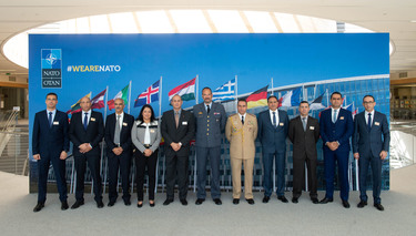 Moroccan Royal Armed Forces Officers visit NATO Headquarters in the framework of NATO-Morocco partnership