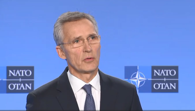 Press point by NATO Secretary General Jens Stoltenberg following a meeting of the North Atlantic Council 20200106_200106-sg