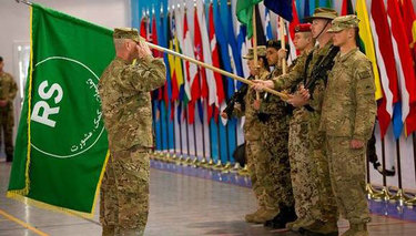 Transition ceremony kicks off Resolute Support Mission