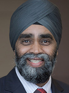 Harjit Singh Sajjan, Minister of Defence of Canada